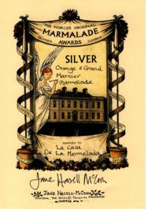 Medalla de plata 2014 en el concurso internacional de mermeladas de Dalemain, Inglaterra.